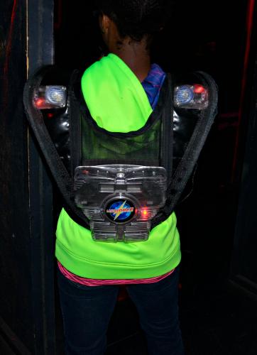Lazer vest back