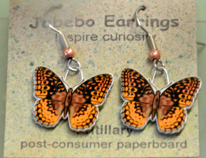 wildcat butterfly earrings