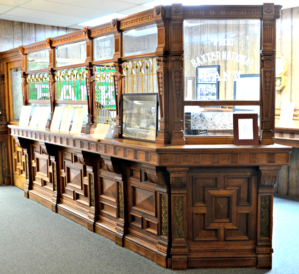 baxter museum bank counter