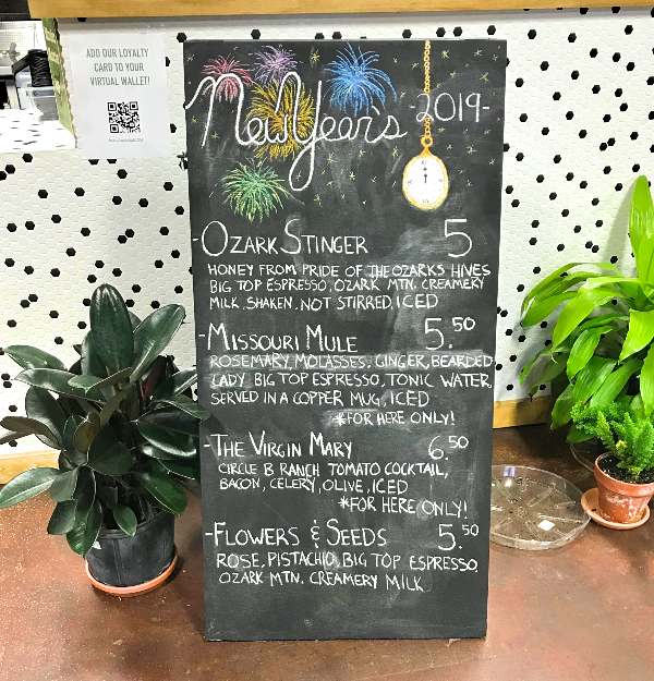 greenhouse monthly menu